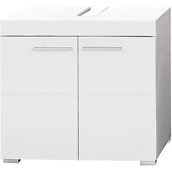 HanFei Badezimmer Waschbeckenunterschrank Unterschrank Amanda, 60 x 56 x 34 cm in Weiß / Weiß
