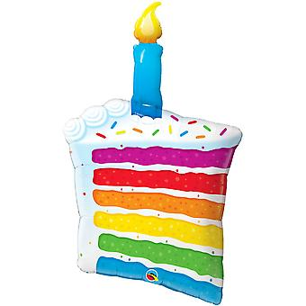 Qualatex 42in Supershape Rainbow Cake And Candle Foil Balloon