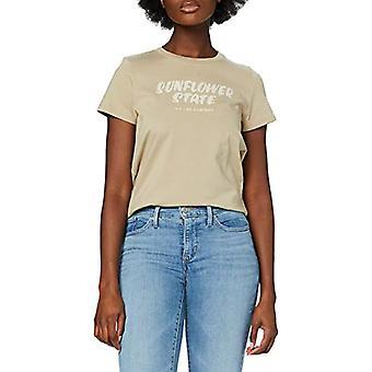 Lee Easy Graphic Tee T-Shirt, Sand Service, 4X-Stor Kvinna