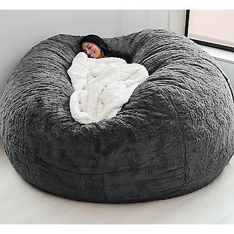 Jättiläinen papusäkki sohvan kansi pehmeä ja mukava pörröinen turkispapu- pussi