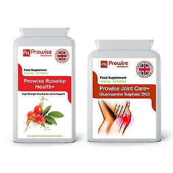 Rosehip + Glucosamine 2KCL | Suitable For Vegetarians & Vegans | Made In UK by Prowise