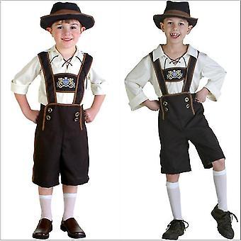 Pojke oktoberfest lederhosen tyska bayerska öl kille kostym pl-820
