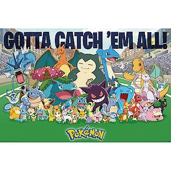 Pokemon All Time Favoriter Affisch
