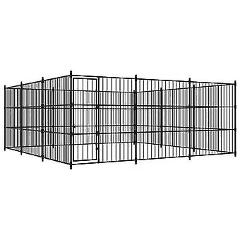 vidaXL Ulkoilukoira Kennel 450×450×185 cm