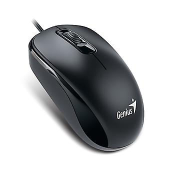 Genius DX-110 Svart USB I full storlek optisk mus