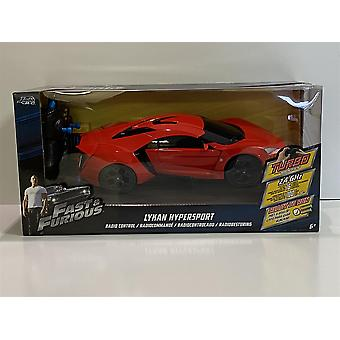 Fast and Furious Lykan Hypersport Red R/C 1:16 Échelle Jada 98546