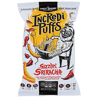 The Snack Brigade Puff Sizzlin Sriracha, Cas de 12 X 6 Oz