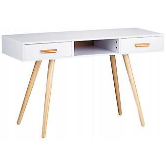Konsolipöydän pukeutumispöytä - 120 x 45 x 75 cm - Valkoinen + puu