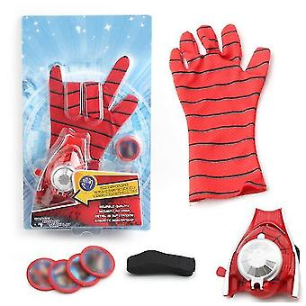 Kids Superhero Magic Gloves With Wrist Ejection Launcher(Red)