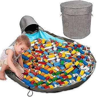 Organizador de almacenamiento de artículos de juegos y estara de gran actividad cesta de la papelera (gris)