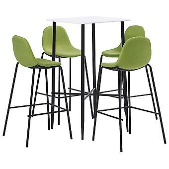 vidaXL 5 pcs. Bar-Set Fabric Green