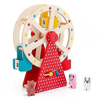 Kinder manuelle rotierende Riesenrad Holz Spielzeug Eltern Kind Interaktion frühe Bildung Puzzle