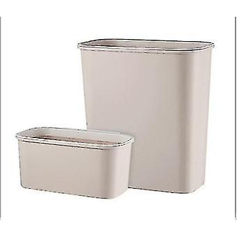 Large And Small 2pcs Combination Household Kitchen Supplies Tools Trash Can Racks(Light Khaki)