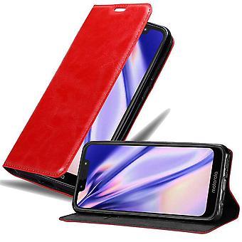 Hülle für Motorola MOTO G7 PLAY Klappbare Handyhülle - Cover - mit Standfunktion und Kartenfach