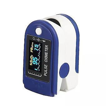 Medyczny pulsoksymetr palca, wyświetlacz OLED, czujnik tlenu we krwi (niebieski)