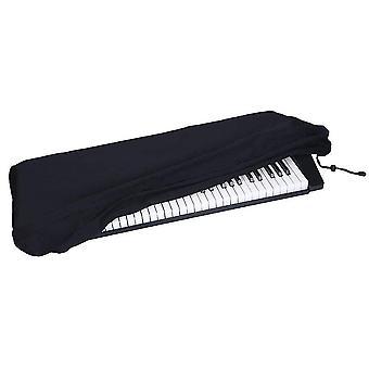 Coperchio antipolvere per tastiera per pianoforte per 61/88 tasti Tienilo libero da polvere e sporco (134x29x19cm) (nero)