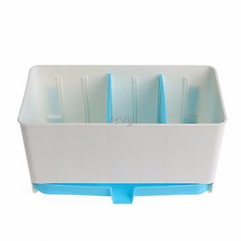 حامل الرف سلة الإسفنج غسل الجرف الجاف أدوات المائدة استنزاف أواني مرتبة