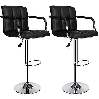 Modern With Footrest Barstool With Armrests Bar Chairs