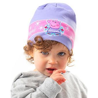Peppa Pig Kinder Winter Woolly Girls lila Mütze Hut