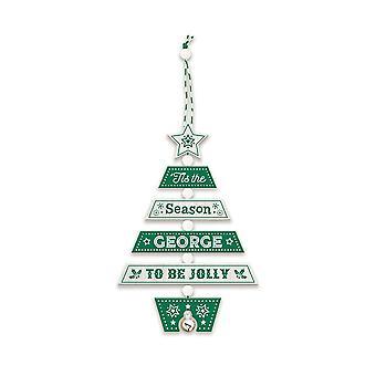 التاريخ وهيرالدري عيد الميلاد شجرة الديكور - جورج 269800328 اليد الخشبية وضعت