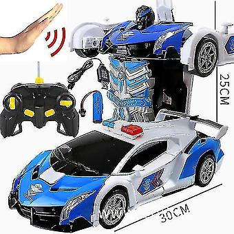 Robotic toys 38 cm rc car 2.4Ghz induction transformation robot 1:12 deformation electric remote-controlled