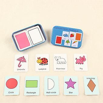 Alphabet Form Tier Passende Lernkarten Holz Block Puzzle Montessori Spielzeug