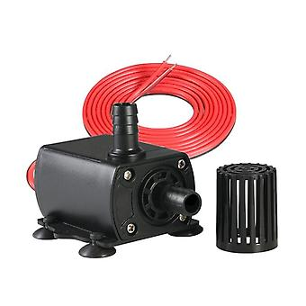 Dc 12v Mini Kefe nélküli hűtővíz szivattyú kerti medence szökőkút vízszivattyú fekete