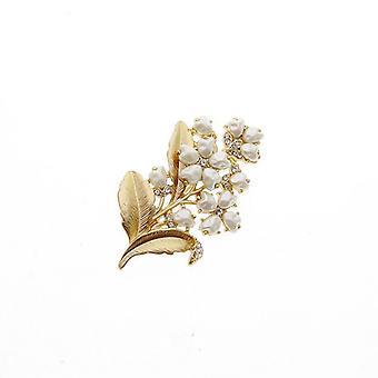 Vintage elegante Lily Pearl broche pin diamant retro kleding broche