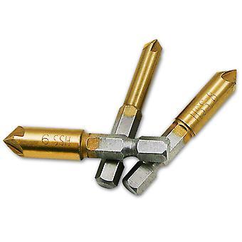 3 Pcs Flûte Countersink Drill Bit Set Compteur 6-9mm Évier Chamfer Cutter