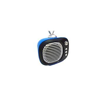 Sv-001 Retro Mini Bærbar Trådløs Bluetooth-høyttaler, Støtte TF-kort (blå)