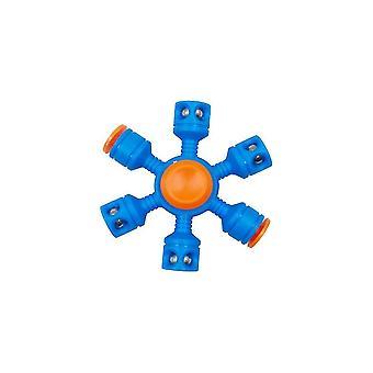 Ångest Relief Leksaker Finger Spinner Stål Pärla Fidget Leksak Blå