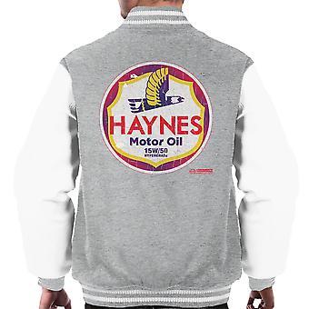 Haynes varumärke Richfield motorolja mäns Varsity jacka