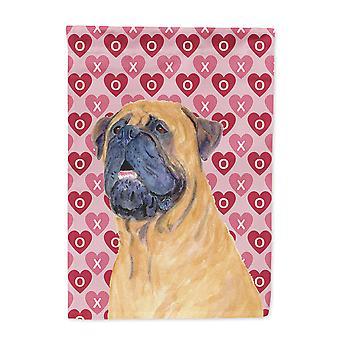 Carolines skatter SS4520-flagg-foreldre Mastiff hjerter kjærlighet og Valentinsdag