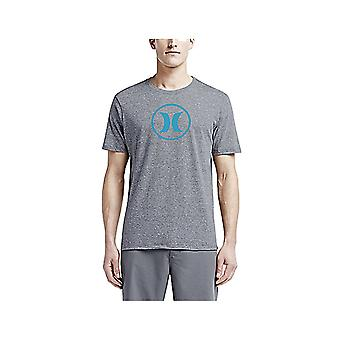 Hurley Circle Icon Dri Fit Short Sleeve T-Shirt in Charcoal Heather