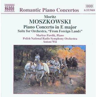 M. Moszkowski - Moritz Moszkowski: Concerto per pianoforte in mi maggiore; Suite per importazione USA Orchestra da terre straniere [CD]