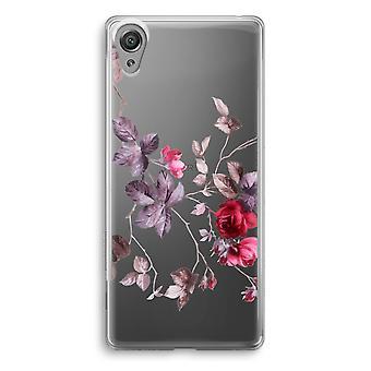 Sony Xperia XA1 przezroczyste etui (Soft) - piękne kwiaty