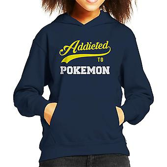 Accro au Hooded Sweatshirt Baseball Pokemon Style texte enfant