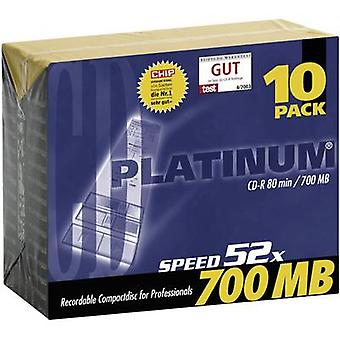 Platinum 100144 tom CD-R 80 700 MB 10 PC (er) slank veske