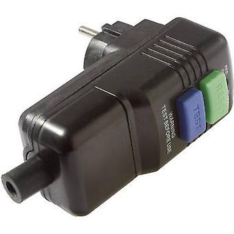 as - Schwabe 45209 Safety L-shape mains plug Plastic + PRCD 230 V Black IP44