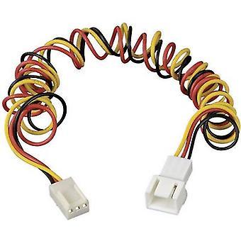 PC fan kabel forlengelsen [1 x PC fan plug 3-pin - 1 x PC fan socket 3-pin] 0,60 m svart, rød, gul Akasa