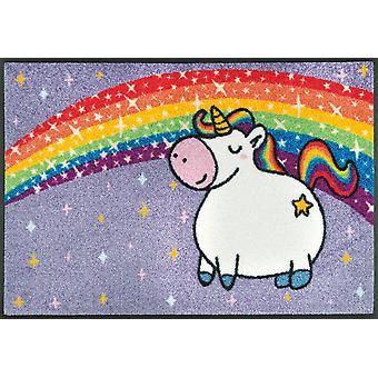 wash + dry mat Unicorn Rainbow washable dirt mat Unicorn