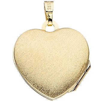 Medallion 333/g part rhodium plated gold locket part ice frosted Heart Locket