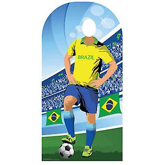 Wk 2018 Brazilië Voetbal Karton Cutout / Standee Stand-in