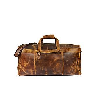 Premium Leather Travel Pal Duffle Travel Bag