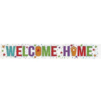 Anagram Welcome Home Holographic Foil Banner