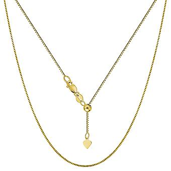 14 k boîte réglable or jaune Collier Necklace, 0,7 mm, 22