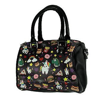 All the Favorite Things Fun Food and Unicorns Handbag