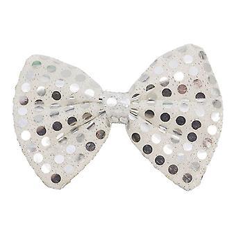 Bow Tie Silver Sequin
