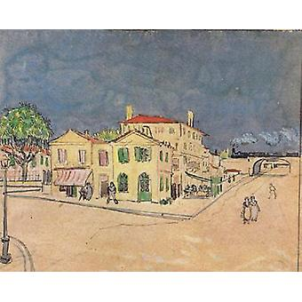 Vincent ' s House in Arles, Vincent Van Gogh, 50x40cm ny02
