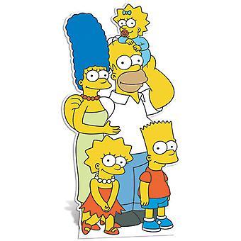Simpsons familj Lifesize kartong släppandet / stående